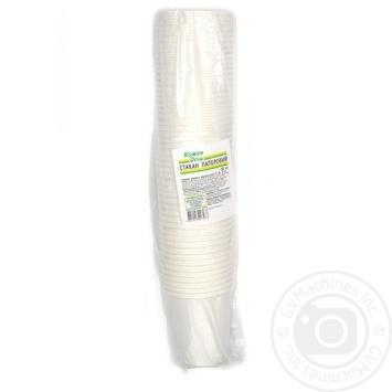Склянка Кожен день паперова одноразова біла 175мл 50шт - купити, ціни на Ашан - фото 1