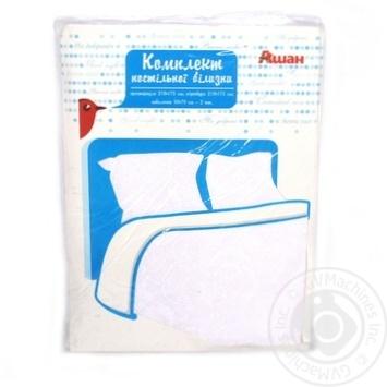 Комплект Ашан постельного белья двуспальный 175x210см - купить, цены на Ашан - фото 2
