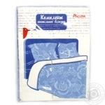 Комплект Ашан постільної білизни двоспальний блакитний 175x210см