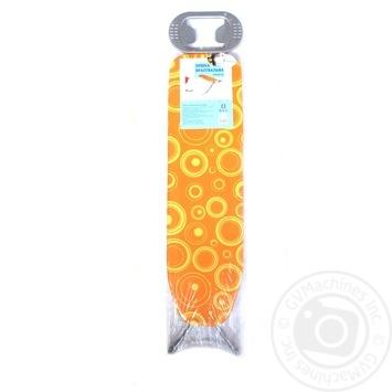 Доска гладильная Ашан на металлической сетке 110*30см - купить, цены на Ашан - фото 1