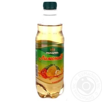 Напій Оболонь Лимонад зі смаком лимона і яблука безалкогольний сильногазований пластикова пляшка 500мл Україна