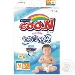 Подгузники GOO.N для детей 6-11кг размер M на липучках унисекс 64шт - купить, цены на Novus - фото 2