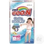 Трусики-подгузники GOO.N для девочек 9-14 кг размер L 44шт