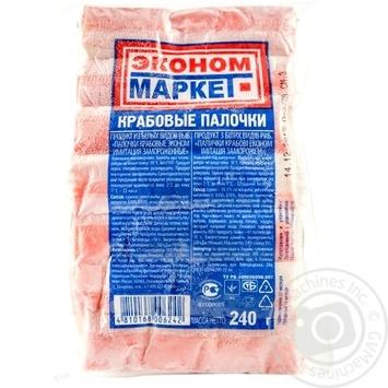 Крабові палички Санта Бремор Економ Маркет заморожені 240г Білорусь