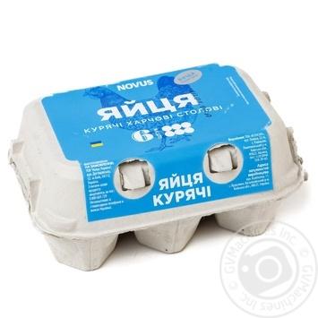Яйца куриные Novus С0 6шт - купить, цены на Novus - фото 1