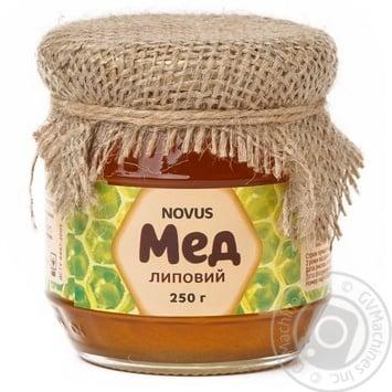 Мед натуральний липовий Novus 250г - купить, цены на Novus - фото 1