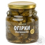 Vegetables cucumber Novus pickled 580g glass jar