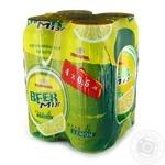 Пиво Оболонь Beermix лимон ж/б Акция 3*0,5+0,5л