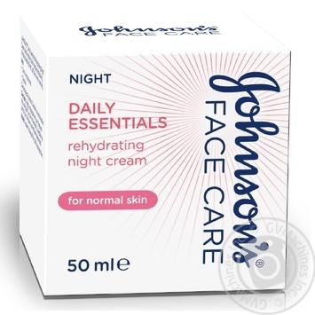 Ночной увлажняющий крем Johnson's Daily Essentials для нормальной кожи 50мл