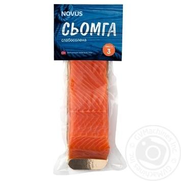 Семга Novus слабосоленая филе-кусок с кожей 180г - купить, цены на Novus - фото 1
