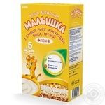 Каша дитяча Малишка суміш рису кукурудзи вівса і гречки молочна суха з 5 місяців 250г Україна