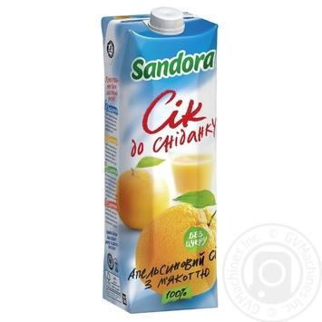 Сок Sandora к завтраку апельсиновый 950мл Украина
