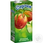 Сок Садочок персиковый с мякотью 950мл