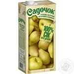 Сок Садочок Грушево-Яблочный прямого отжима 950мл