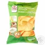 Potato chips Fine Food with the taste of mushrooms in sour cream 150g Ukraine
