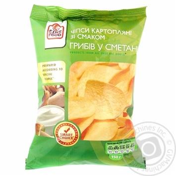 Чипсы Файн Фуд картофельные со вкусом грибов в сметане 150г Украина