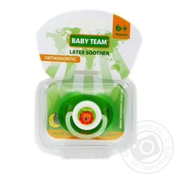 Пустушка латексна, ортодонтична  Baby Team арт 3204