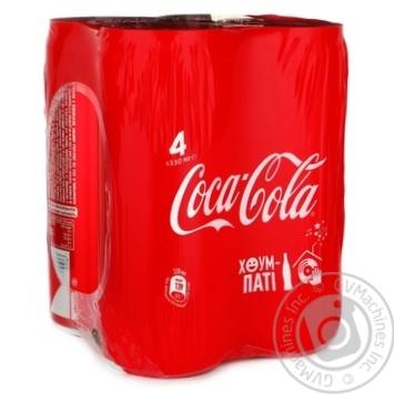 Напиток газированный Coca-Cola ж/б 4х0,33л
