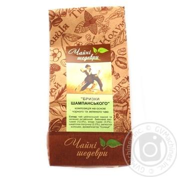 Композиция черного и зеленого чая Чайные шедевры Брызги шампанского - купить, цены на Ашан - фото 3
