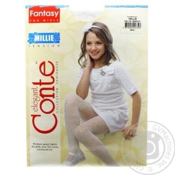 Колготки Conte дитячі нарядні Millie розмір 128-134 bianco