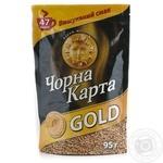 Кава розчинна Чорна карта Gold 95г