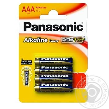 Батарейки Panasonic LR03 Alkaline Power ААА 4шт - купить, цены на Фуршет - фото 2