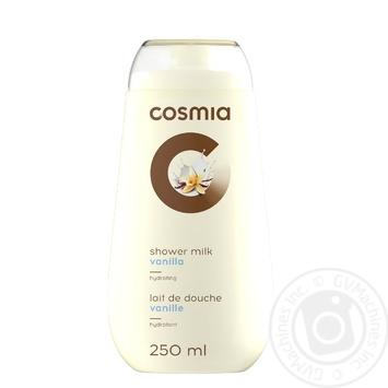 Молочко для душа COSMIA Экстракт ванили 250мл - купить, цены на Ашан - фото 1