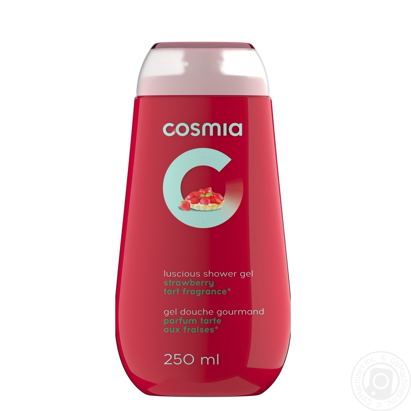 Gel Cosmia Auchan Strawberries With Cream For Shower 250ml