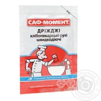 Дріжжі Саф-Момент сухі хлібопекарські швидкодіючі 11г - купити, ціни на Ашан - фото 1