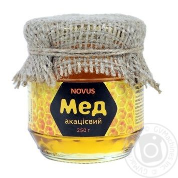 Мед натуральний акацієвий Novus 250г - купить, цены на Novus - фото 1