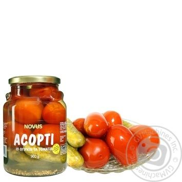 Vegetables tomato Novus Private import pickled 900g - buy, prices for Novus - image 1