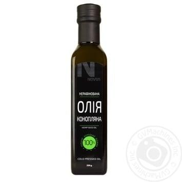 Масло из семян конопли Novus нерафинированное 230г