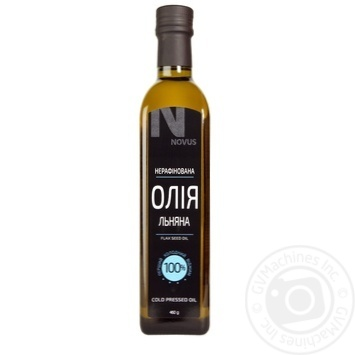 Масло из семян льна Novus нерафинированное 460г - купить, цены на Novus - фото 1