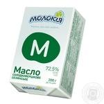 Масло Молокія Крестьянское 72,5% фольга 200г