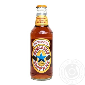 Pasteurized dark beer Newcastle Brown Ale 4.7%alc glass bottle 330ml United Kingdom