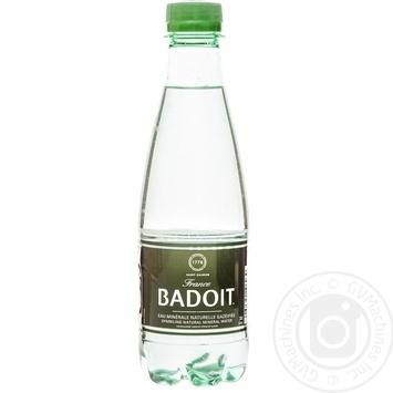 Sparkling natural mineral water Badoit plastic bottle 330ml France