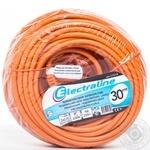 Подовжувач Electraline 1 розетка 30м 2*0,75 помаранч