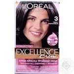 Фарба для волосся Excellence L'oreal 3 Темно-каштановий