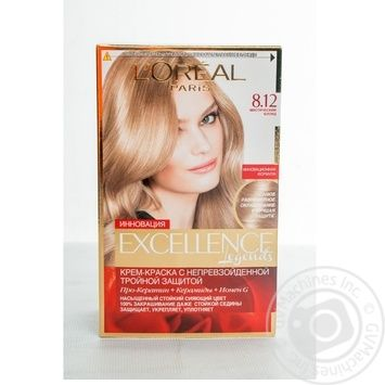 Крем-фарба для волосся L'Oreal Paris Excellence Legends 8.12 містичний блонд