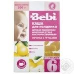 Dry instant milk porridge Bebi wheat cookies with pears for 6+ month babies 200g