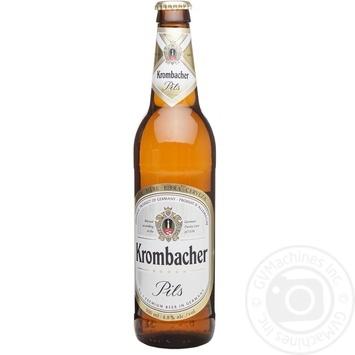 Пиво Krombacher Pils 4.8% светлое 0,5л - купить, цены на Novus - фото 1