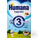 Смесь сухая молочная Хумана 3 с яблоком с 10 месяцев 600г