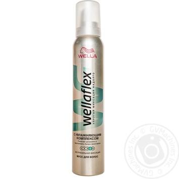 Мусс для волос Wellaflex с увлажняющим комплексом 200мл - купить, цены на Таврия В - фото 1