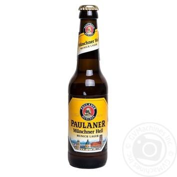 Пиво Пауланер Оріджинал Мюнхнер світле пастеризоване 4.9%об. 330мл