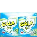 Пральний порошок Gala 3в1 Лимонна свіжість для ручного прання 400г