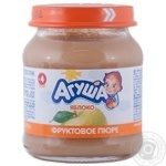 Puree Agusha Apple without sugar for 4+ month old babies glass jar 115g Russia