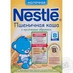 Каша детская Нестле Пшеничная с кусочками абрикоса молочная с 8 месяцев 250г Россия