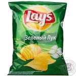 Chips Lay's potato with onion 80g packaged Ukraine