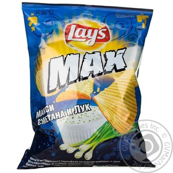 Chips Lay's potato with taste of sour cream 150g packaged Russia