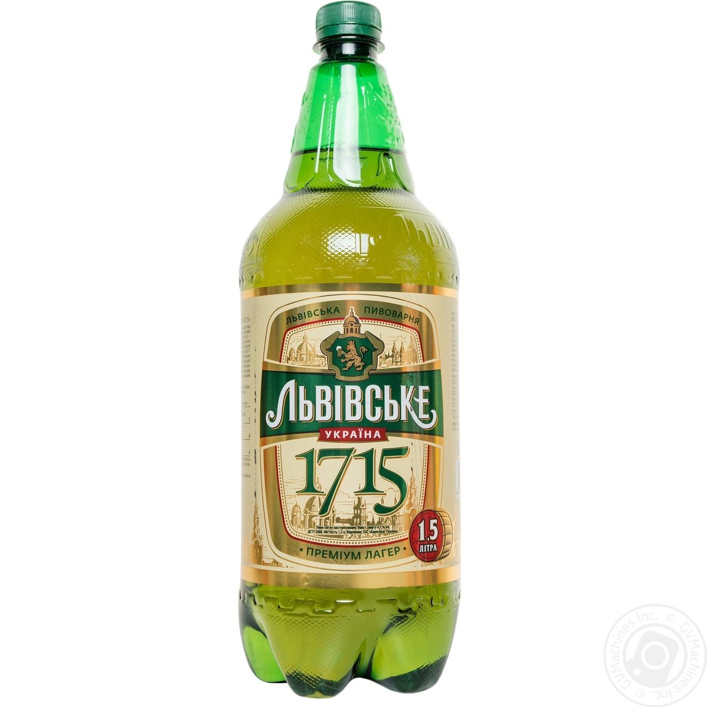 Pasteurized lager Lvivske 1715 4%alc 1.5l